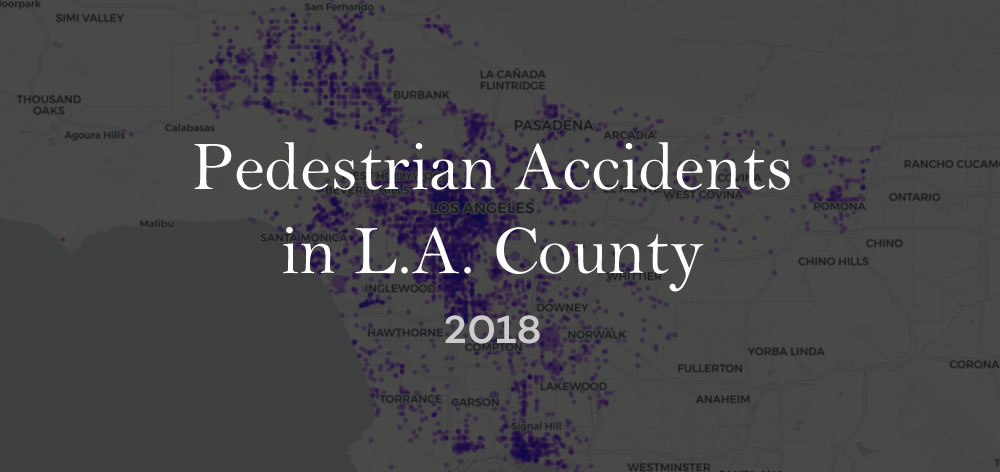Pedestrian Collisions 2018 in LA County